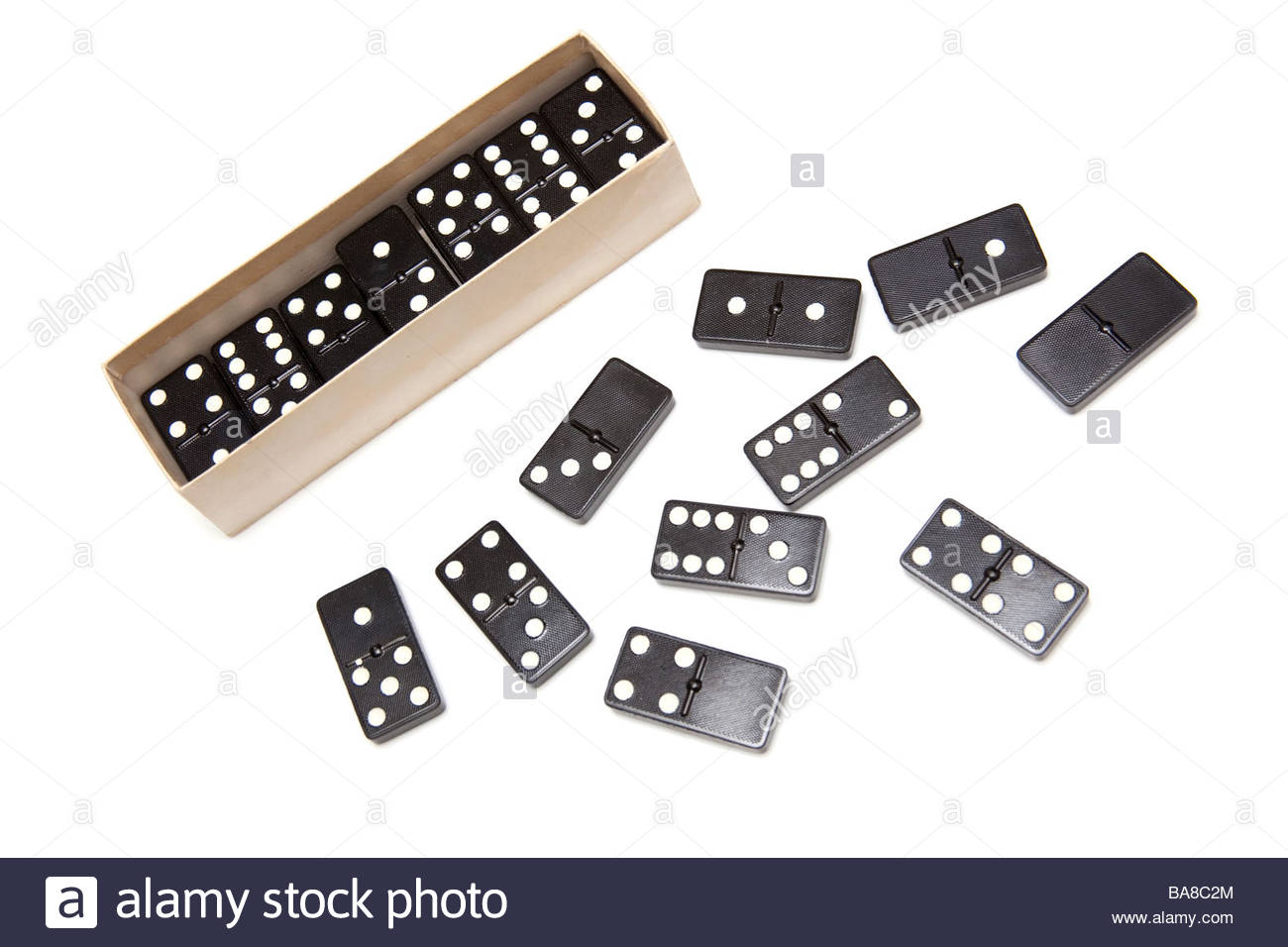 Dominos isolated on a white studio background Stock Photo 1300x956