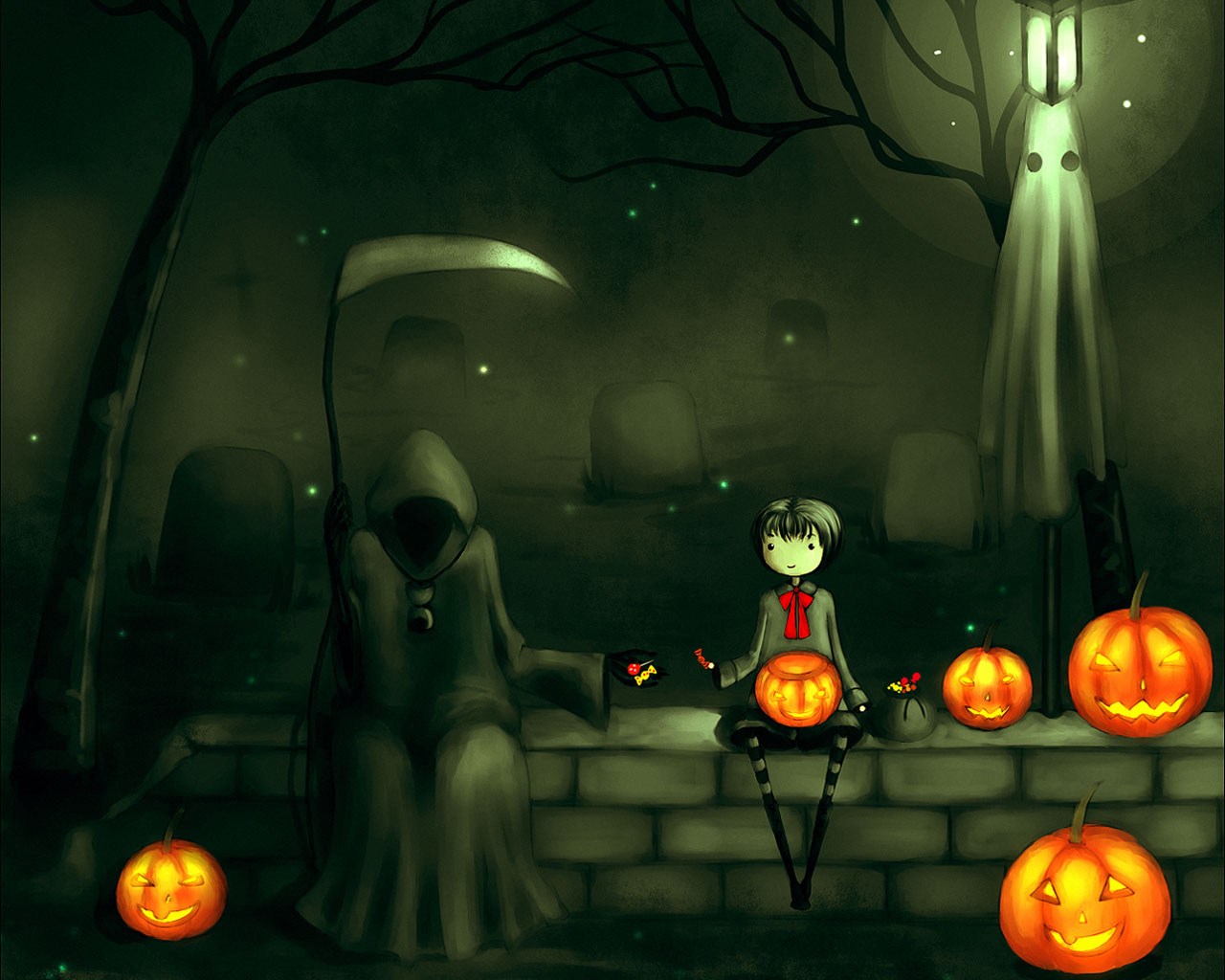 Halloween Background Wallpapers WIN10 THEMES 1280x1024