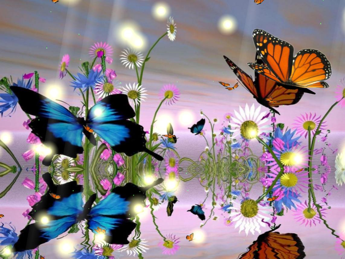 Download Fantastic Butterfly Animated Wallpaper 1142x857