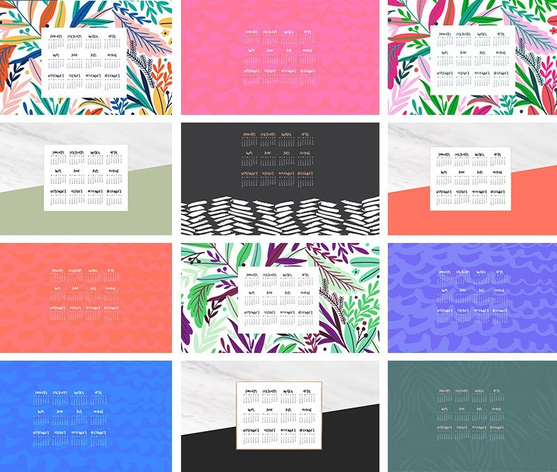 FREE 2019 desktop wallpaper calendars   12 design options 800x678