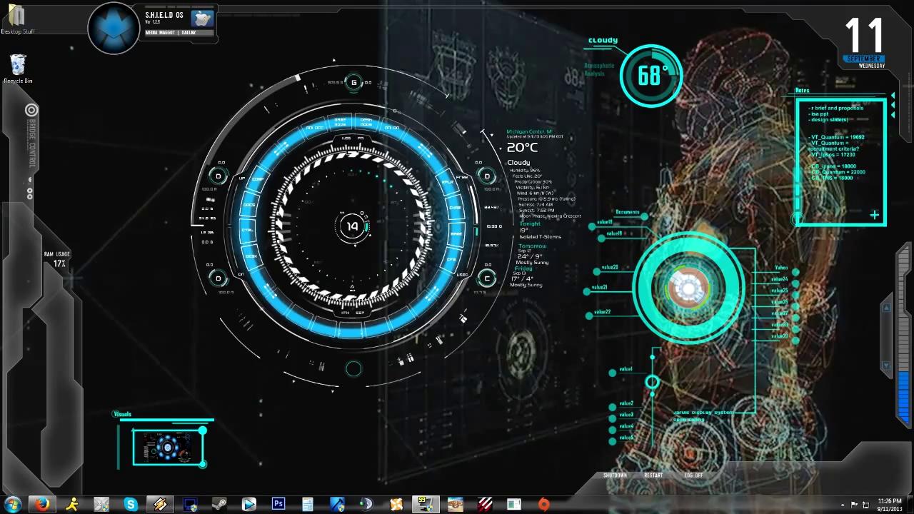 Iron Man Jarvis 10 Animated BackgroundDesktop Tunepk 1280x720