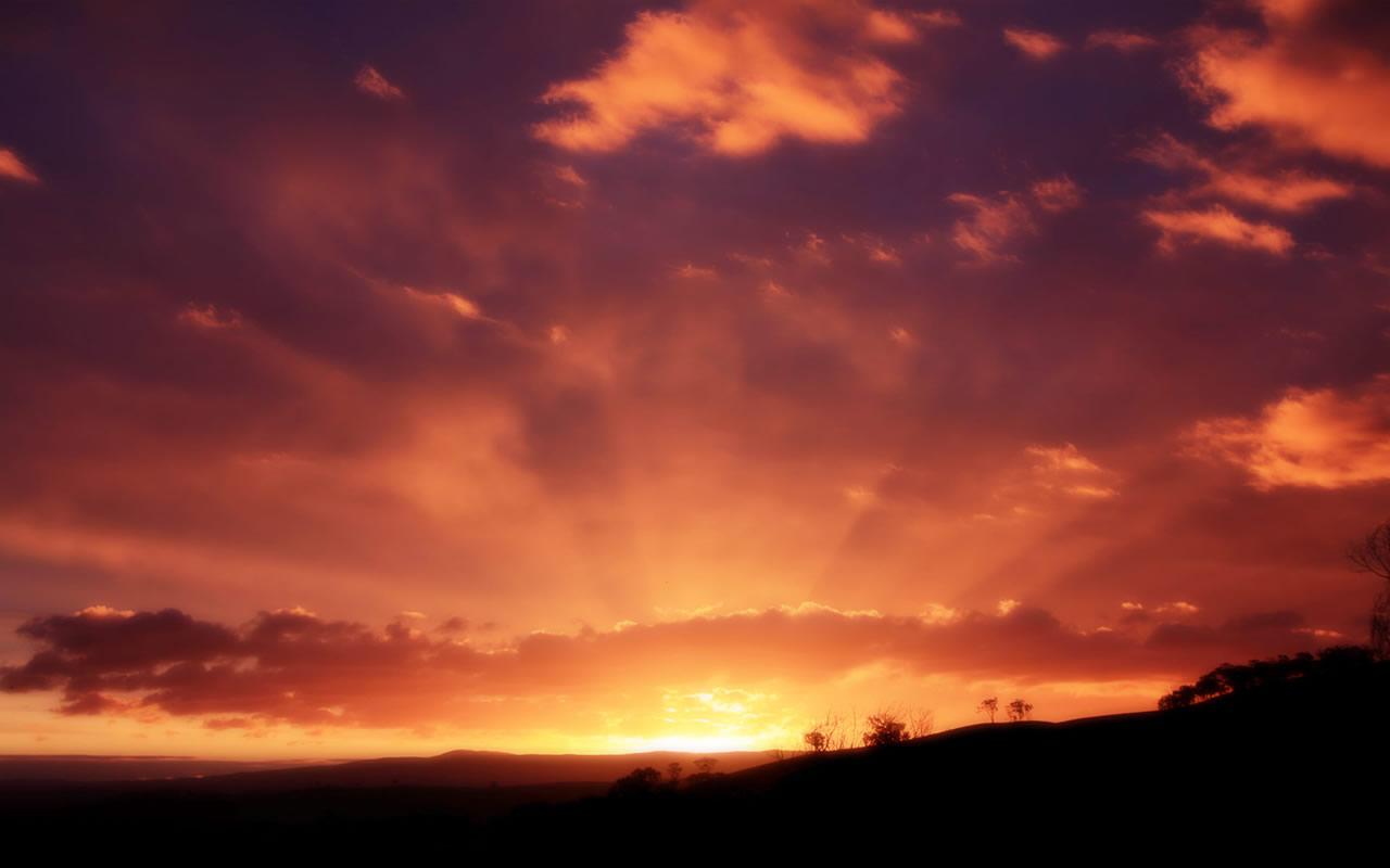 Super Night Sky Wallpaper 1280x800