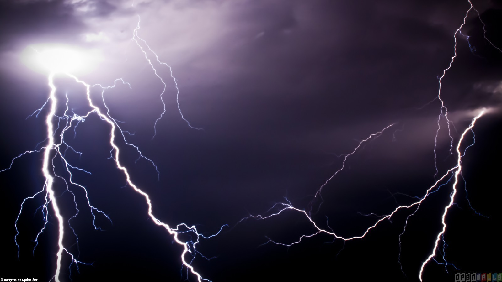 Two lightning strikes wallpaper 15586   Open Walls 1600x900
