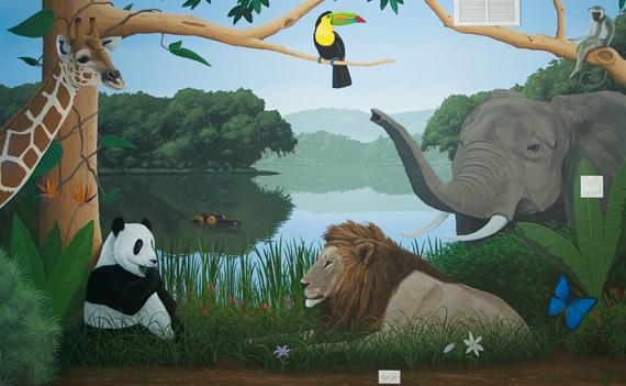 Jungle Theme Wallpaper for Kids