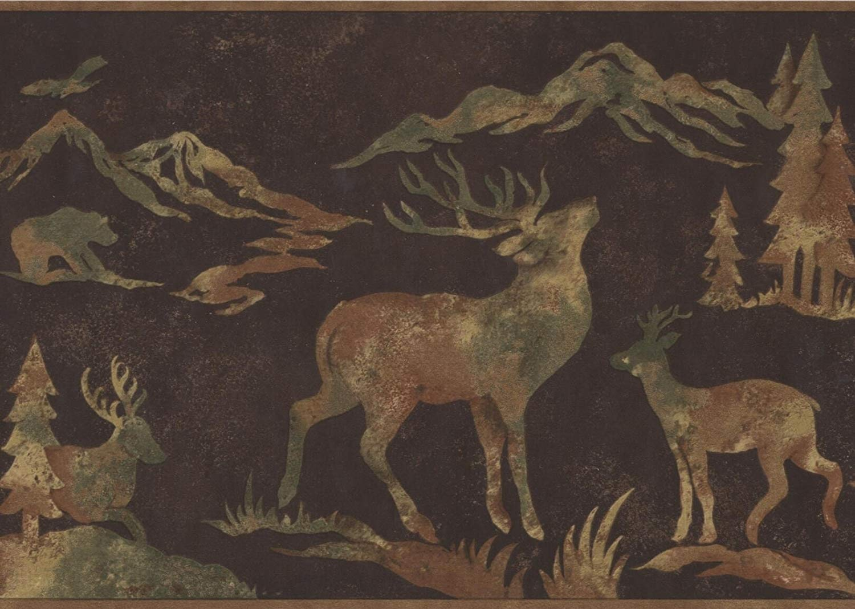 Wildlife Outdoors Moose Deer Elk Silhouettes Dark Brown Wallpaper 1500x1068