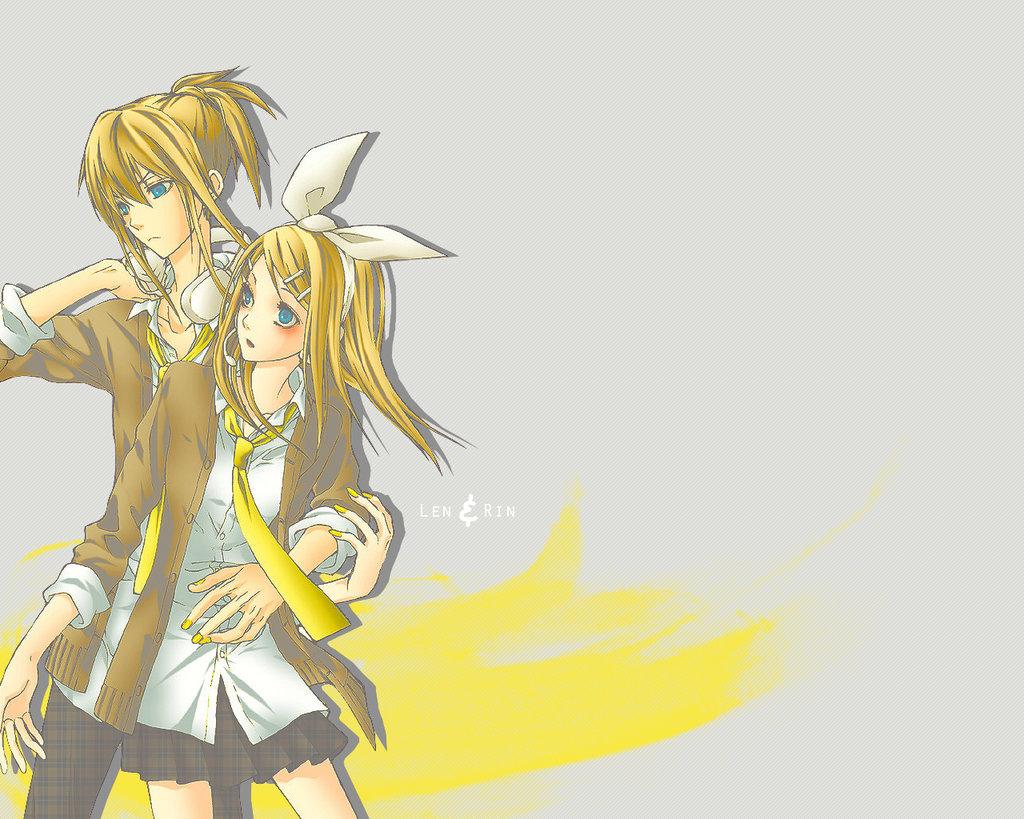 Vocaloid Wallpaper Rin and Len by ideekayys on deviantART 1024x819