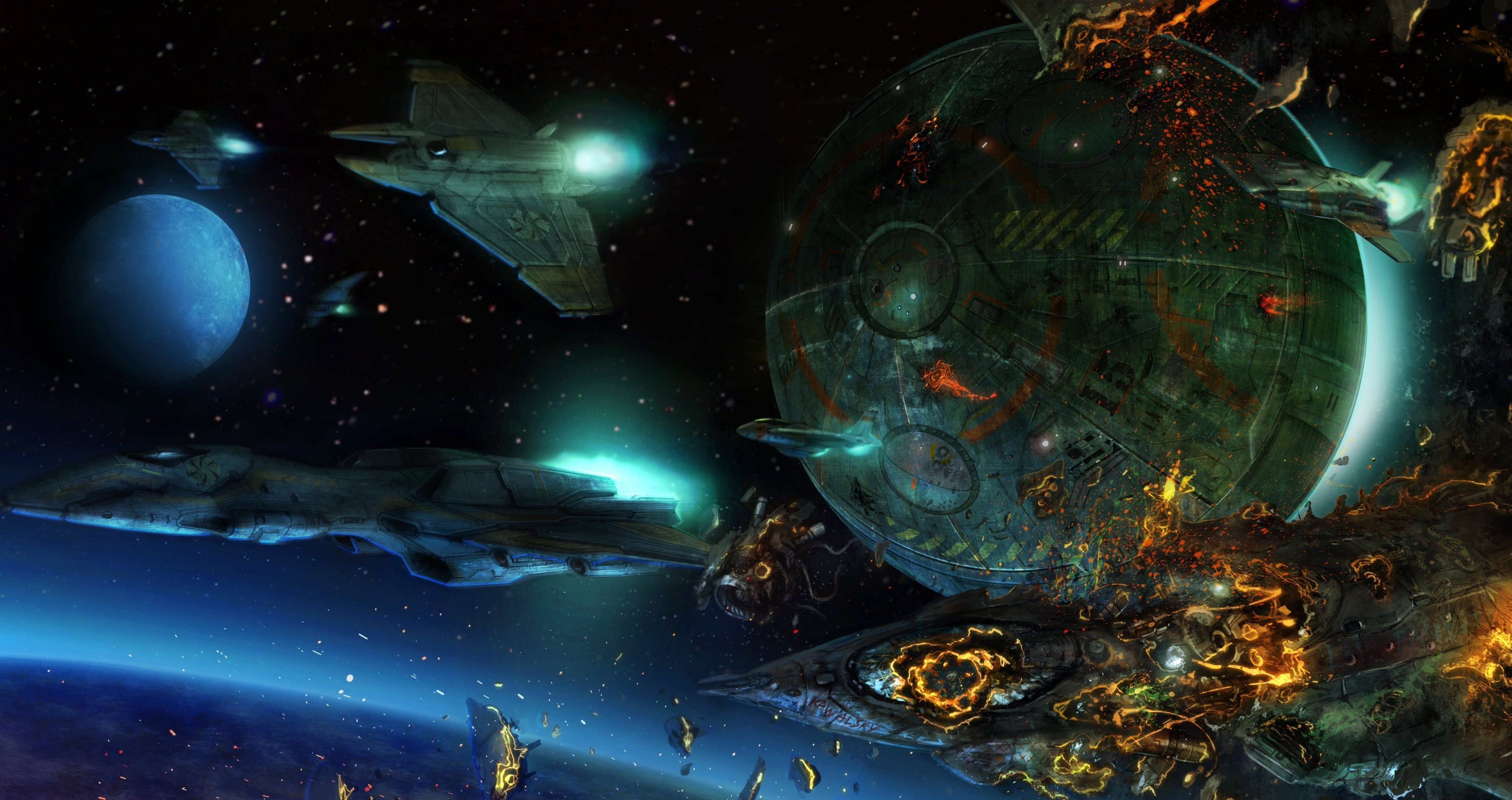 HD Space War Desktop Wallpapers   Wallpapers Z 3840x2032