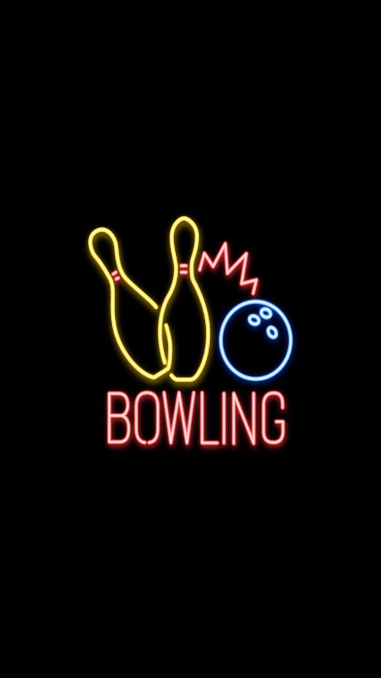 neon neonlights bowling wallpaper neonwallpaper aesthetic 750x1334