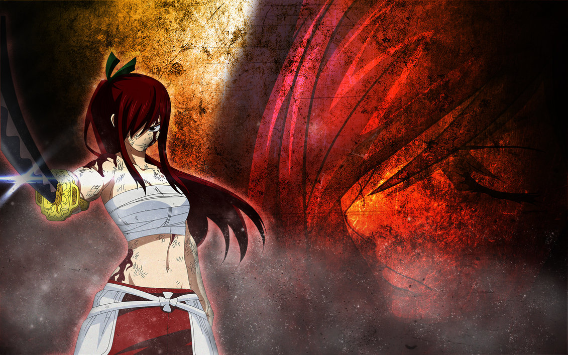 Free Download Wallpaper Fairy Tail Erza By Sa4ior 1131x707 For