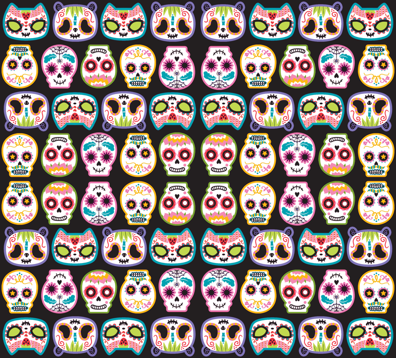 Sugar Skulls Wallpaper Sugar skulls 800x724