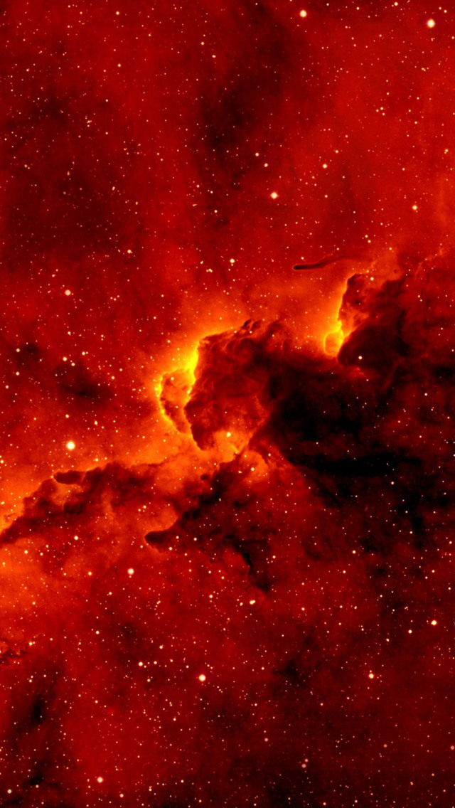 Red Nebula Wallpaper   iPhone Wallpapers 640x1136