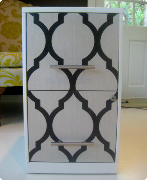 diy project caseys wallpaper file cabinet DesignSponge 475x579