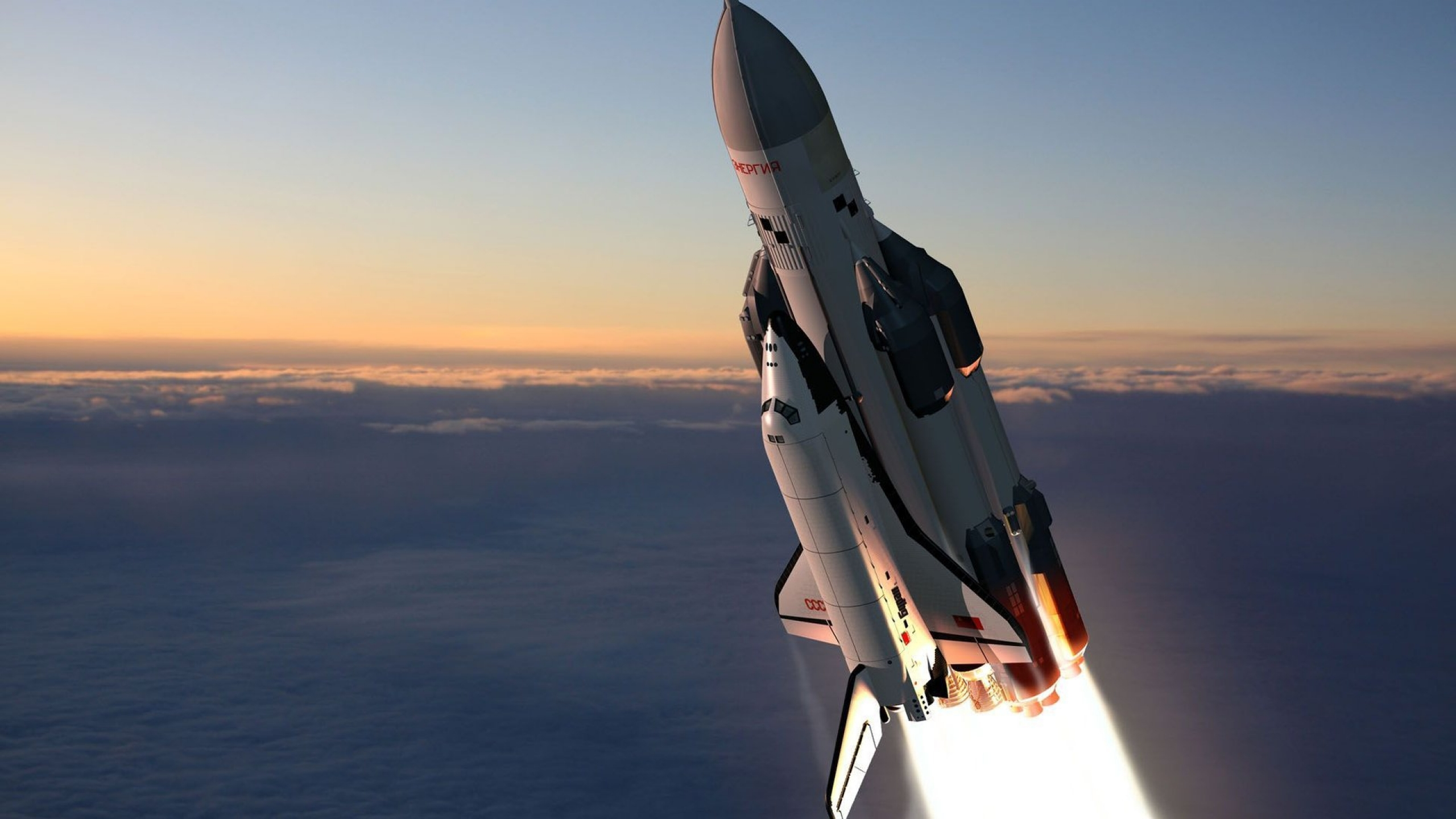 Wallpapers Download 2560x1440 flying concept soviet space shuttle 2560x1440