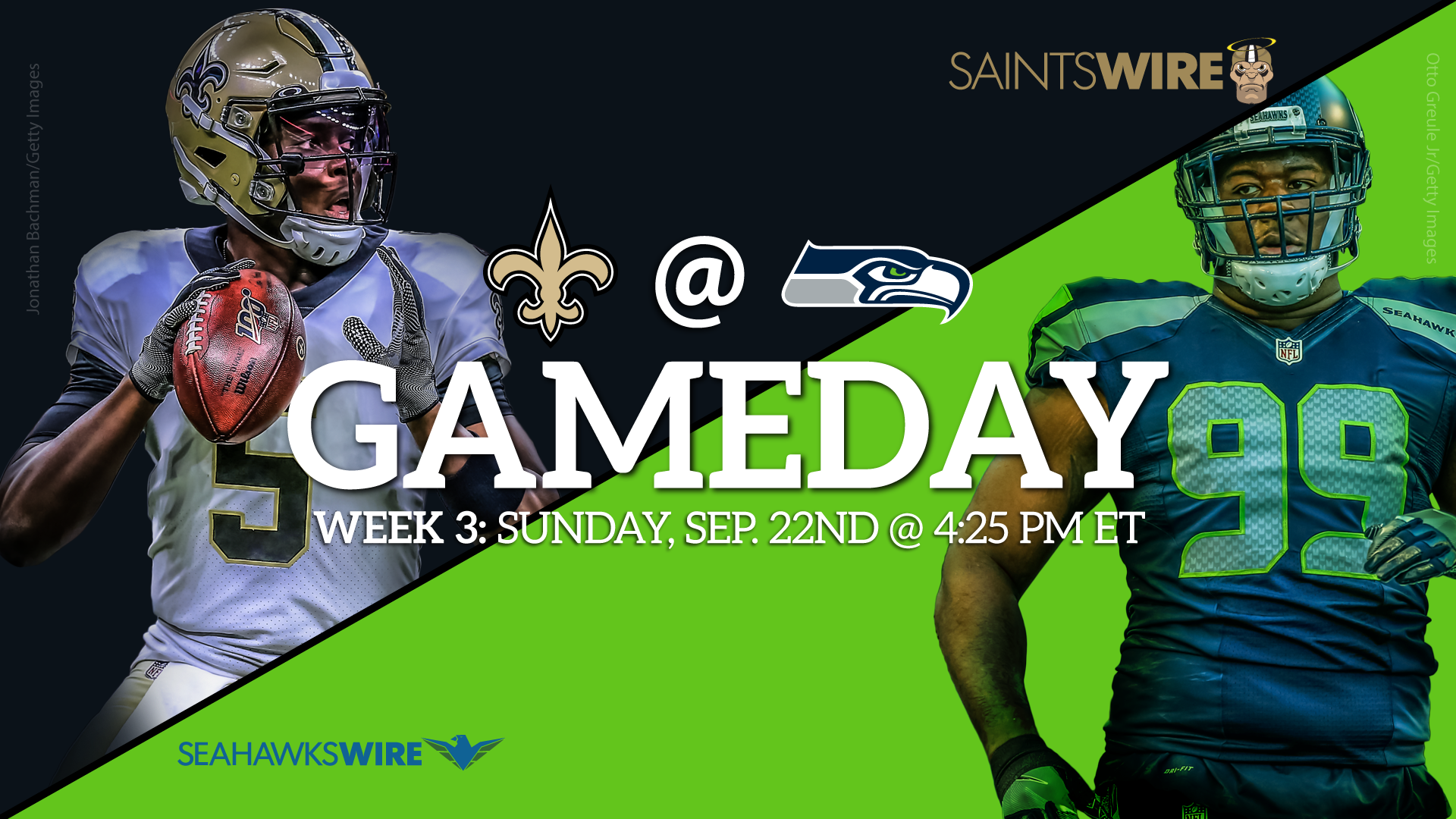 Week 3 inactives New Orleans Saints at Seattle Seahawks 1920x1080