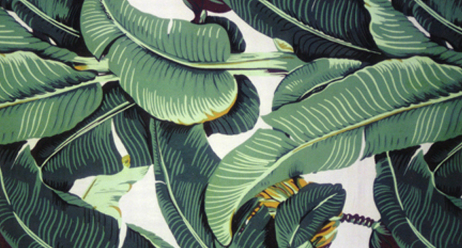 de jungle met het Martinique Banana Leaf wallpaper van Hinson   Roomed 650x350