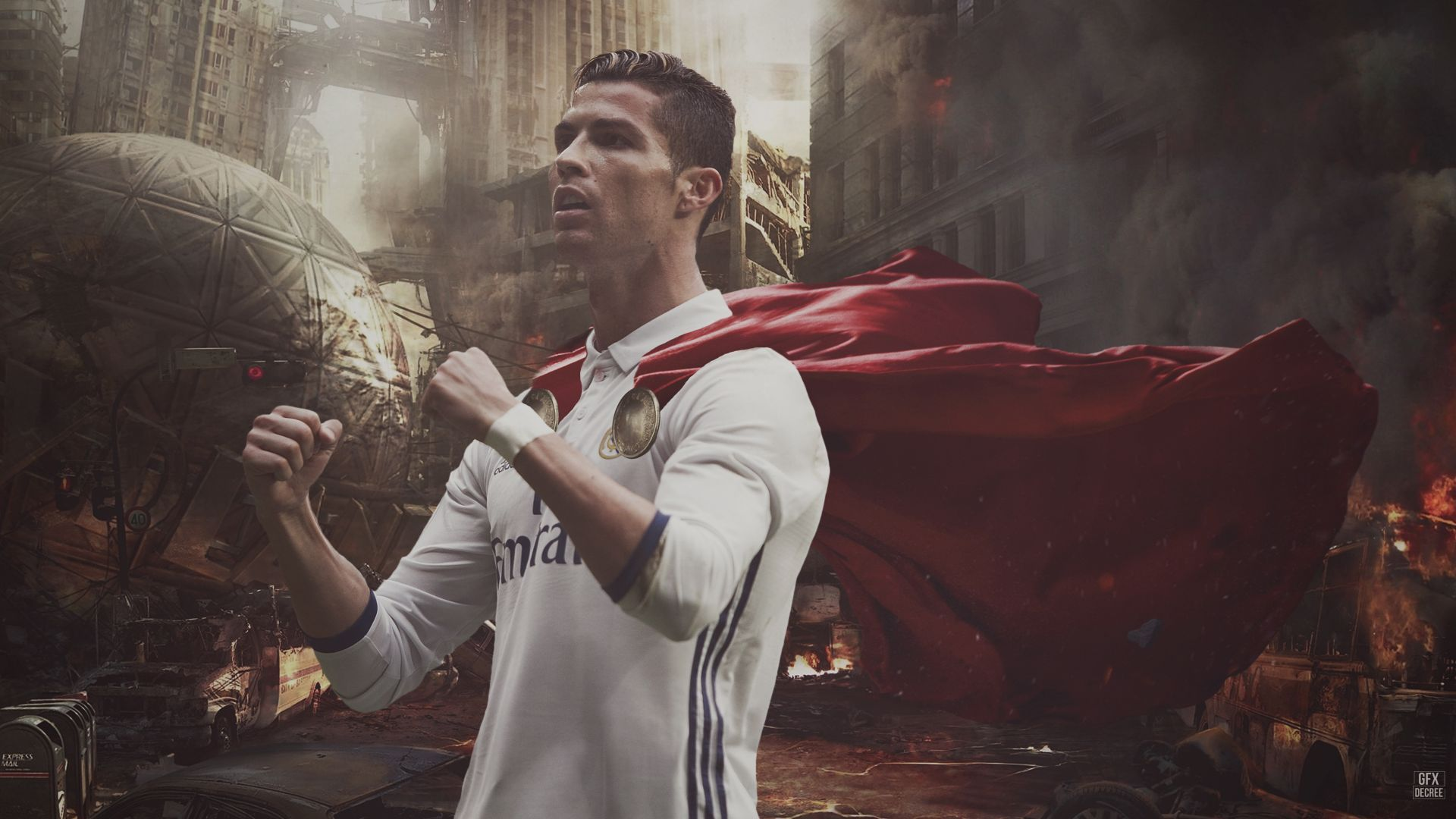 Download wallpapers of Cristiano Ronaldo Portugal Real Madrid 1920x1080