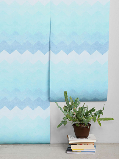 Blue Chevron Removable Wallpaper   Everything TurquoiseEverything 400x537