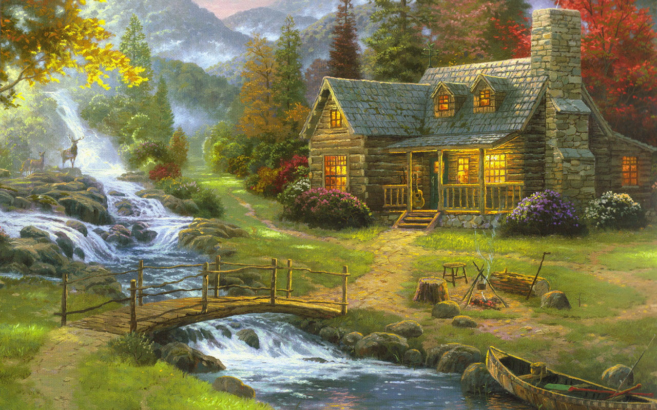 Painting landscape pictures wallpaper   Paintings Wallpapers 1280x800