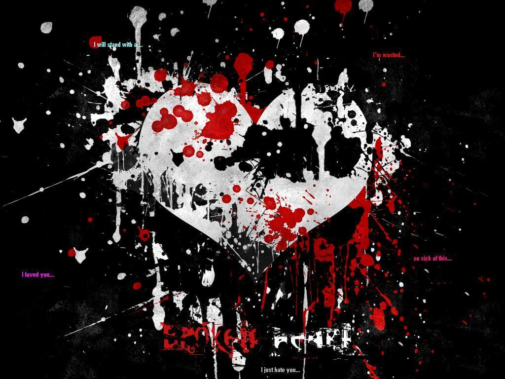 Emo Heart Wallpaper Emo Wallpapers of Emo Boys and Girls 1024x768