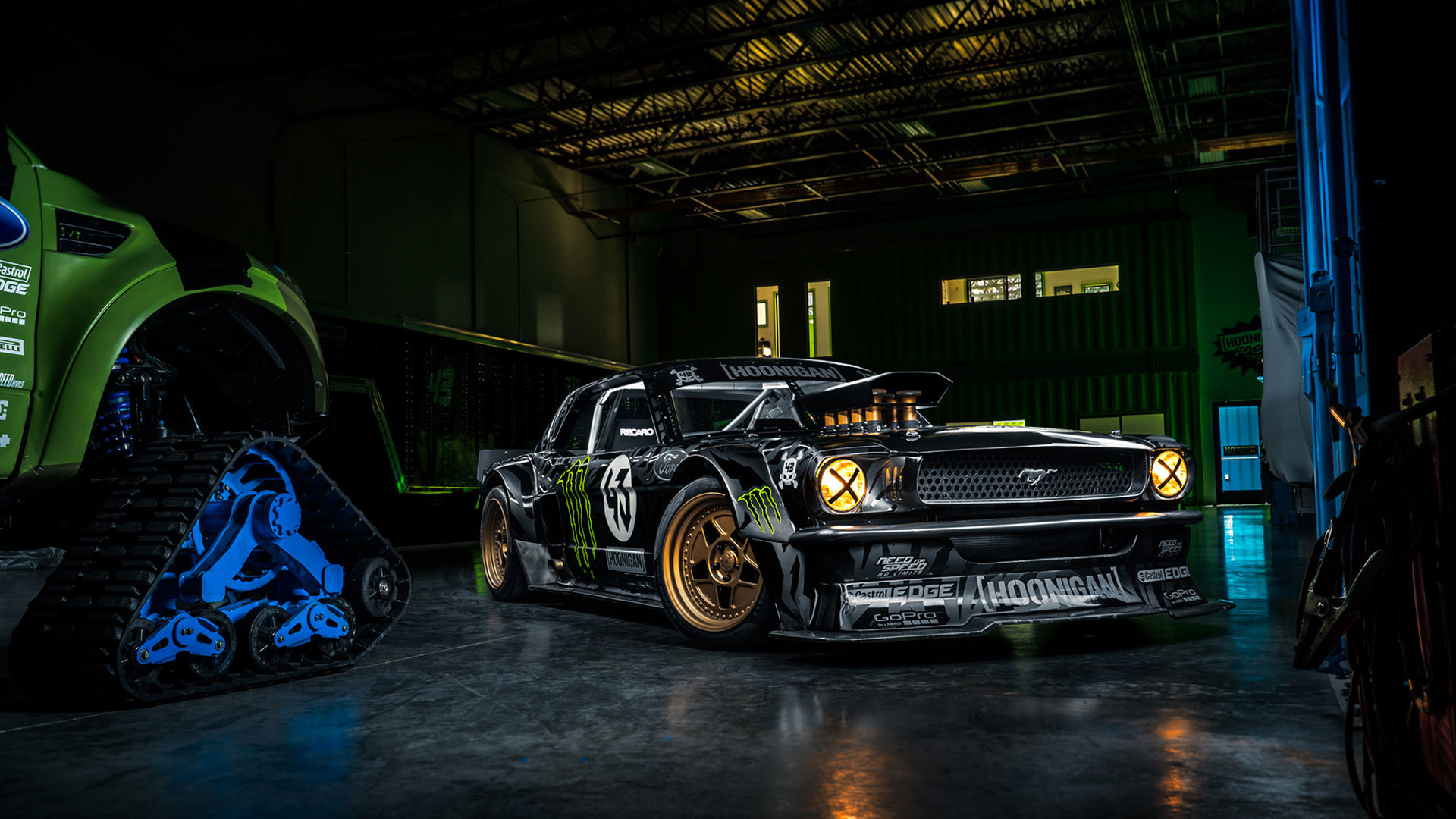 Ford mustang rtr 1965 hoonicorn 845 hp gymkhana seven front 1920x1080