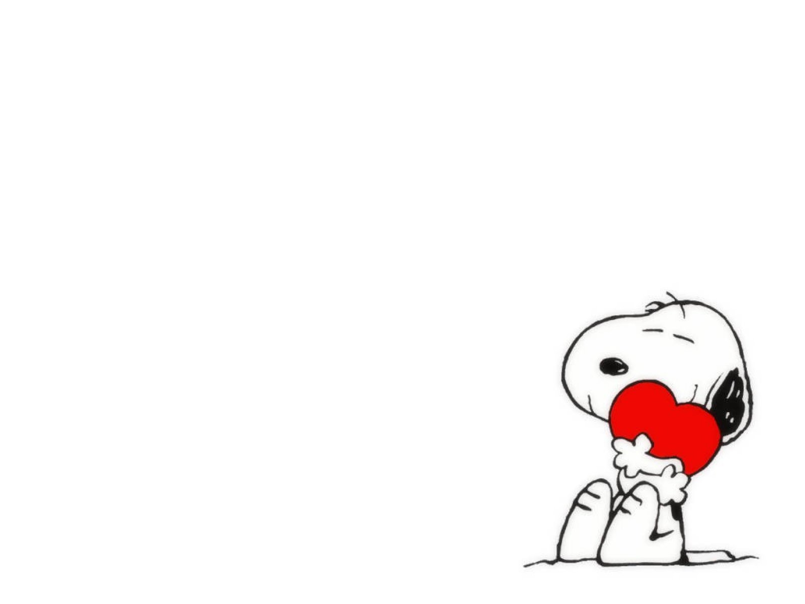 Snoopy Just Love Valentine computer desktop wallpapers pictures 1600x1200