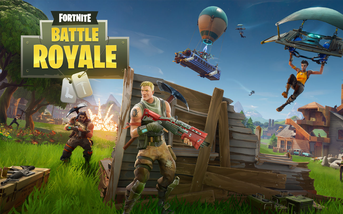 Fortnite Battle Royale Full HD Wallpaper 1440x900
