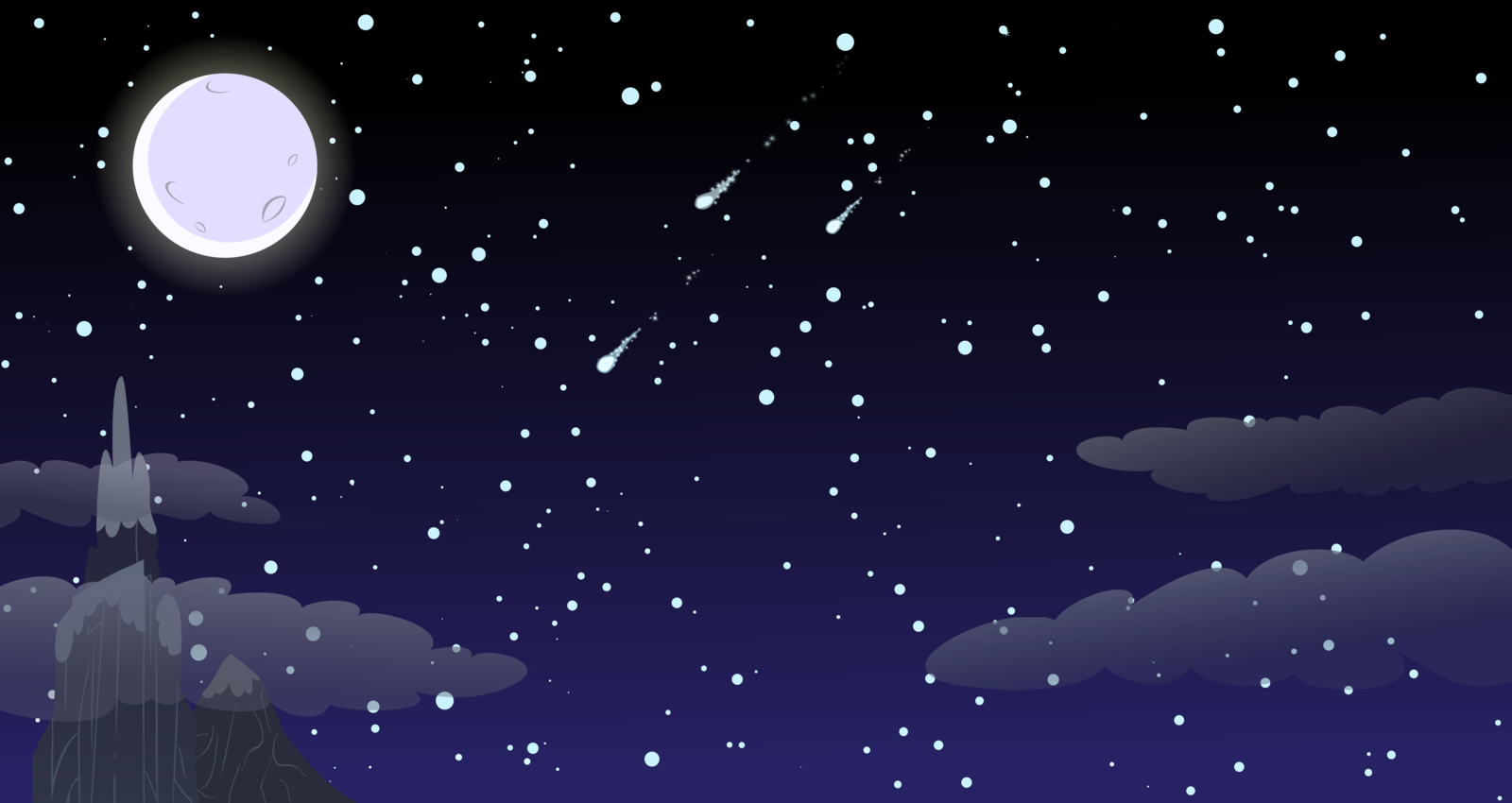 Night Sky Tumblr Background Night background by proenix 1600x850