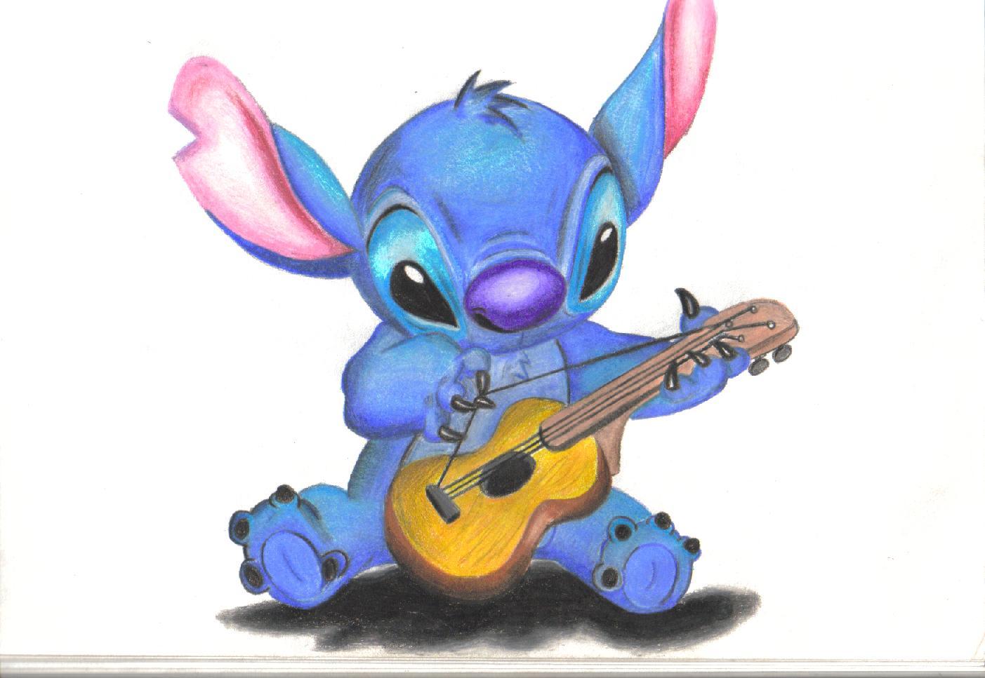Lilo And Stitch Drawing by darkkart 1403x967