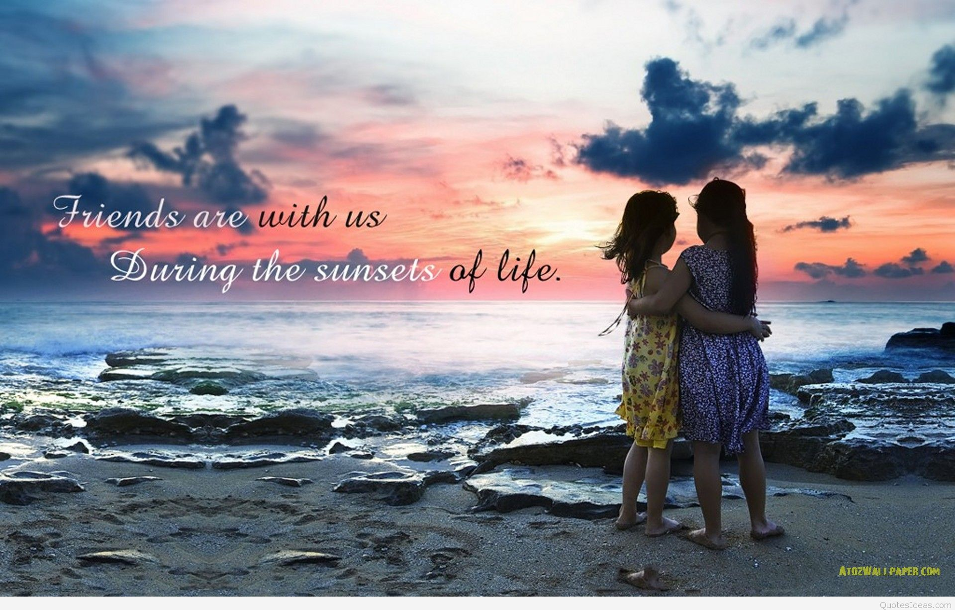 Best friendship wallpaper with quote 1920x1227
