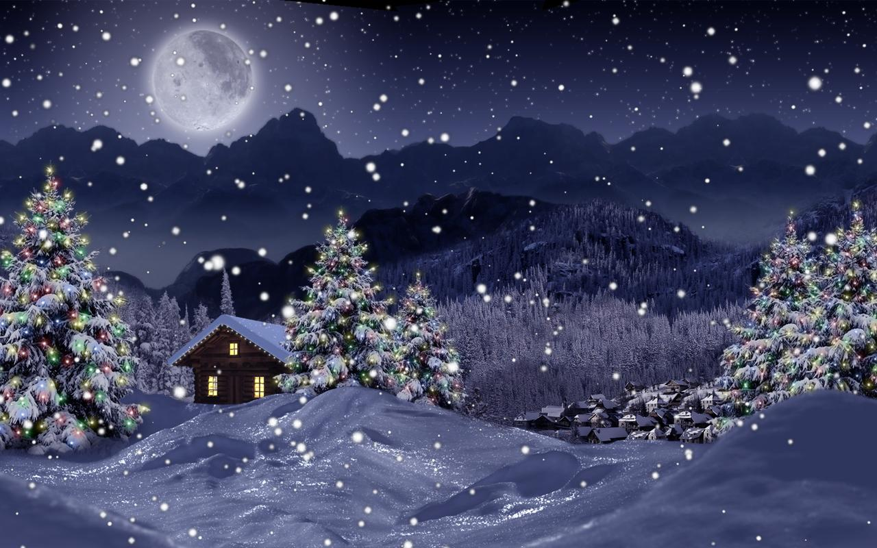 Christmas Live Wallpaper Snow Falling