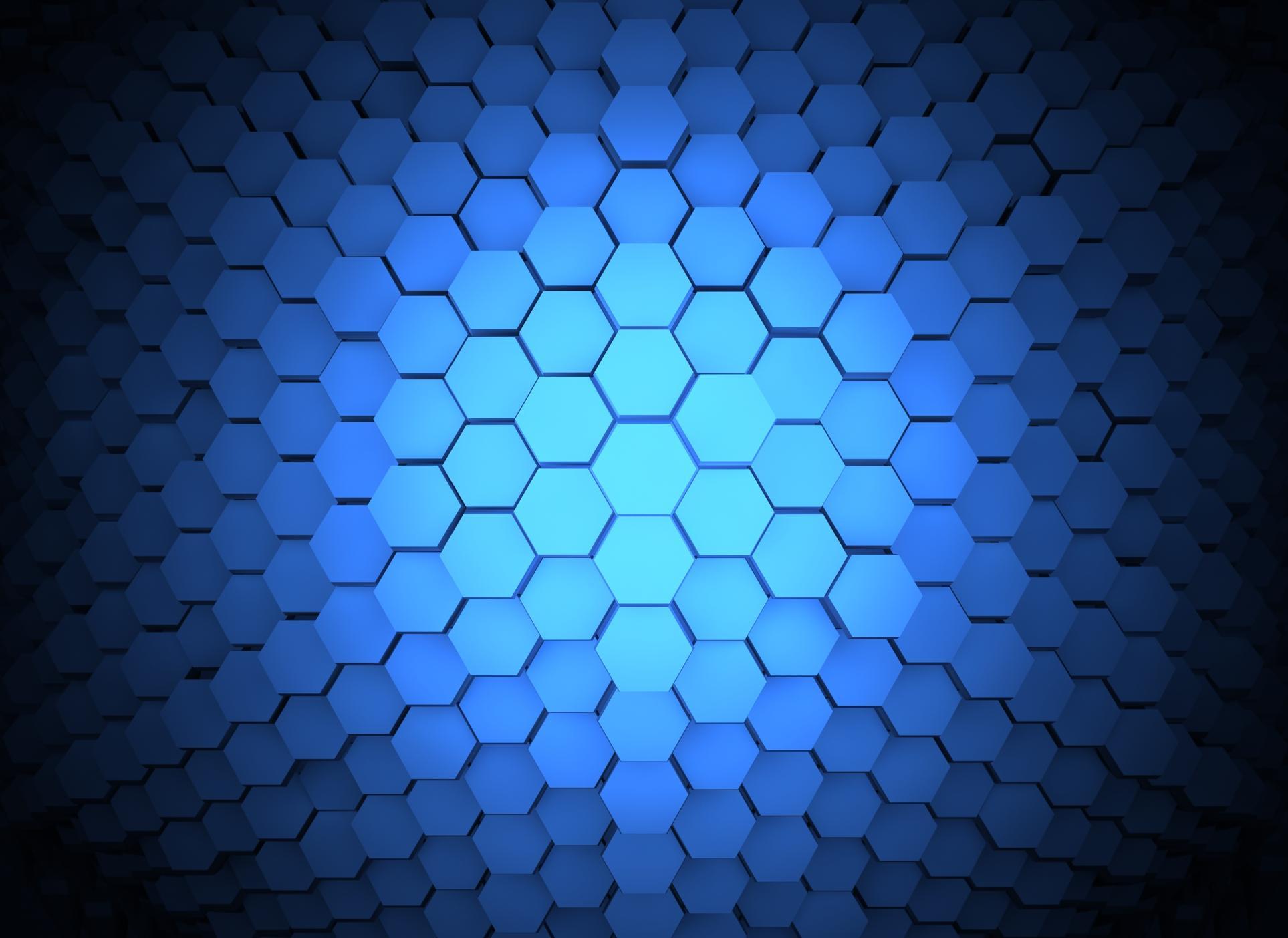 Blue Hexagon Wallpaper  WallpaperSafari