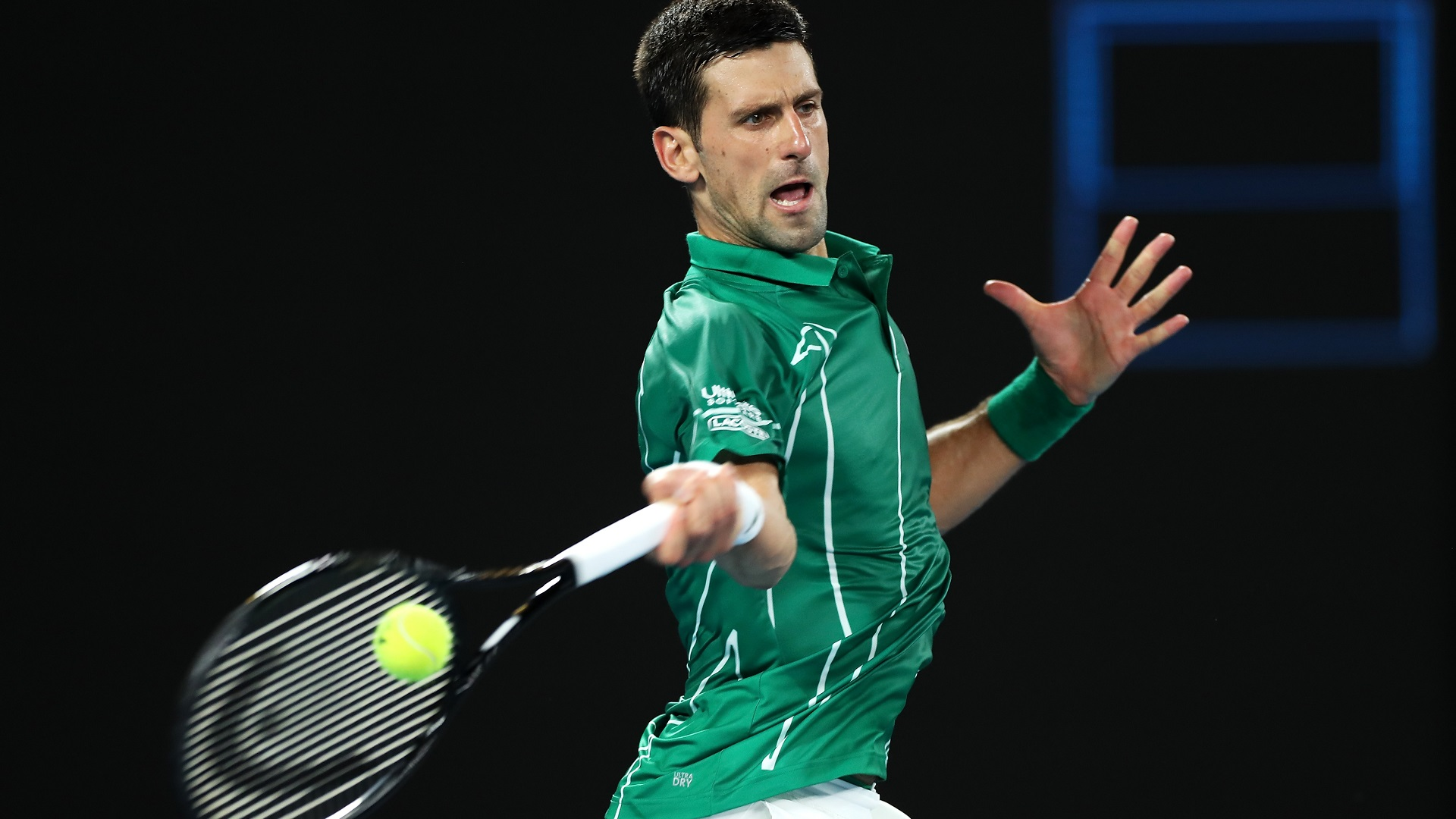 Australian Open 2020 Novak Djokovic overcomes wobble to progress 1920x1080