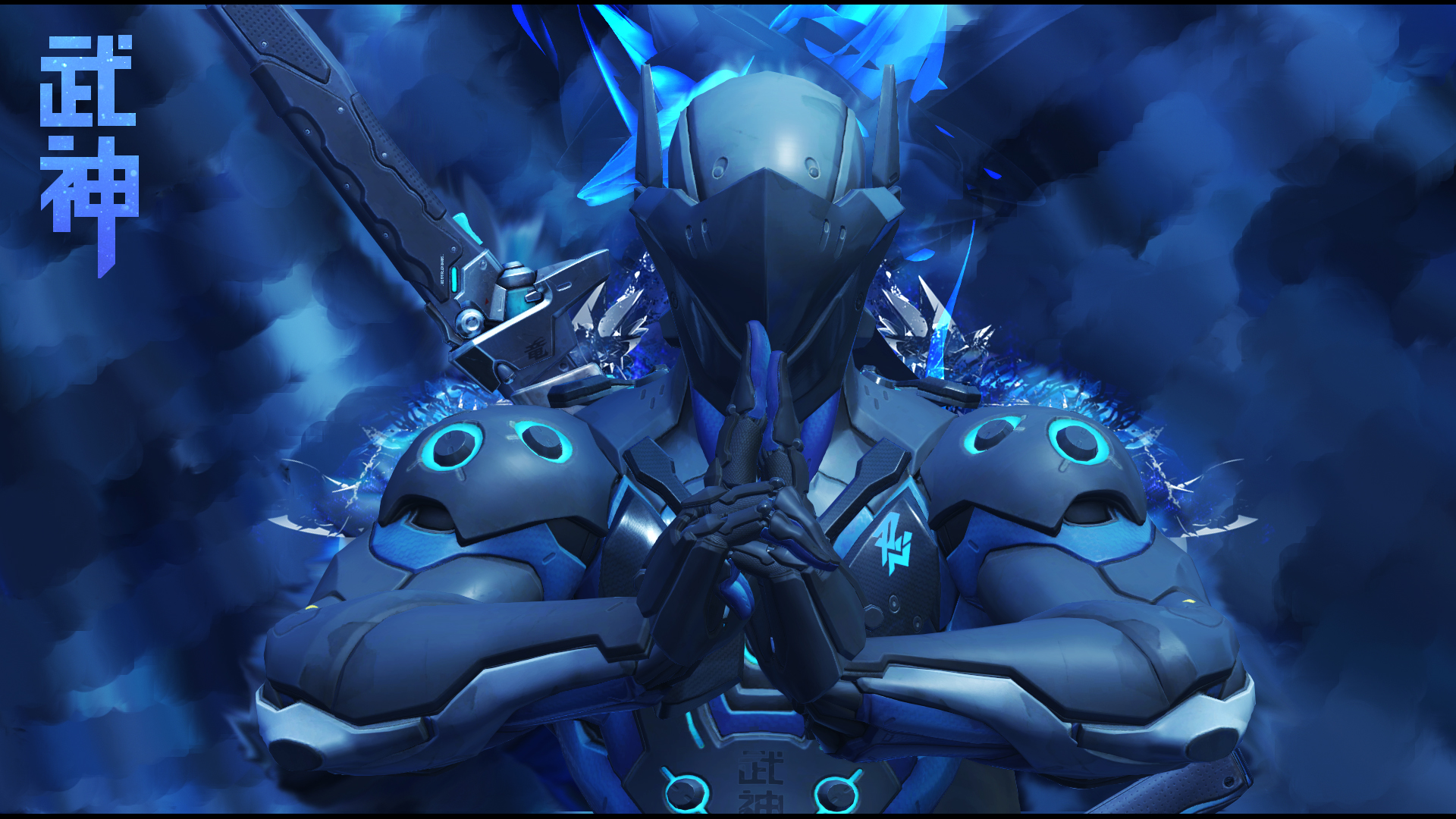 Overwatch   Genji Wallpaper Carbon Fiber by Akaniya 1920x1080