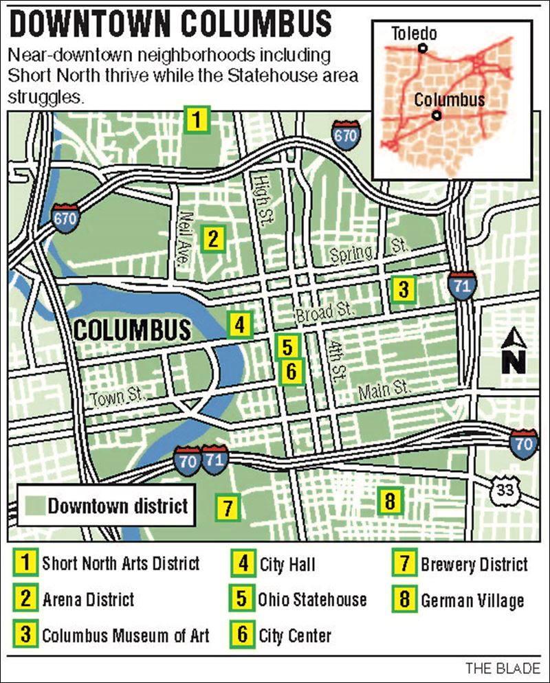 Free Download Map Of Downtown Columbus Columbus 800x994 For Your