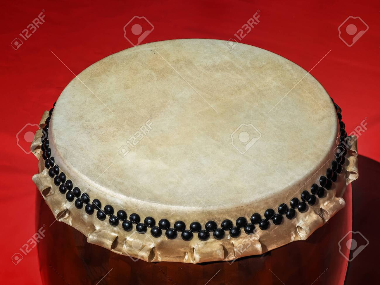 A Big Taiko Drum O daiko On Isolated Red Background Musical 1300x974