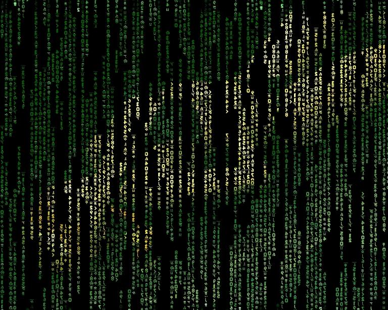 Matrix code falls with custom pictures in background   Google Project 768x614