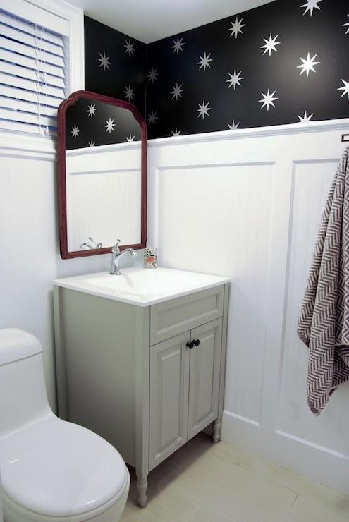 Bathroom Beadboard Transitional bathroom Benjamin Moore Coventry 495x740