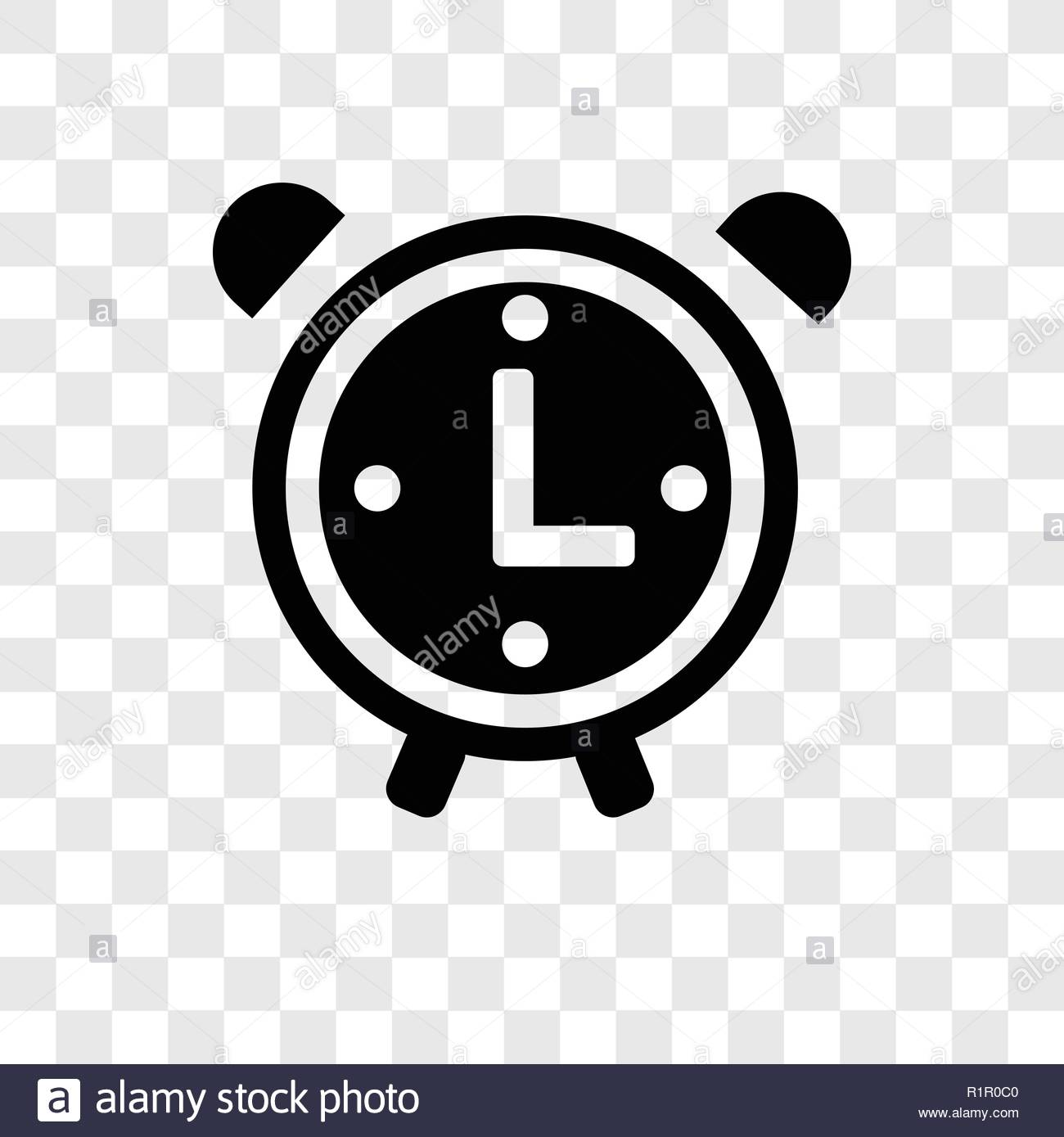 Clock vector icon isolated on transparent background Clock 1300x1389