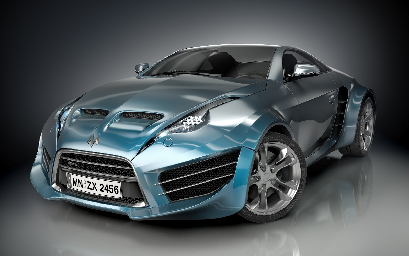 futuristic Hybrid supercar concept 2012 download wallpapers 1600x1000