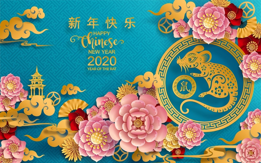 Year of the Rat Chinese New Year 2020 wallpaper   Happy New Year 1000x626