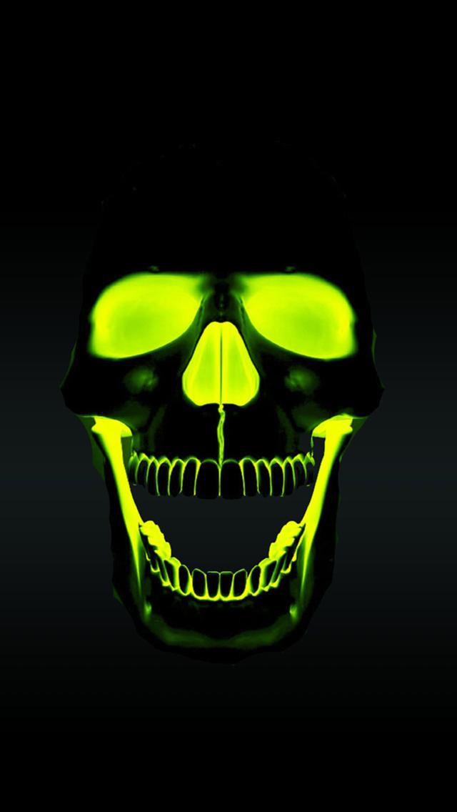 Green Skull Wallpaper Green skull hd wallpaper 640x1136
