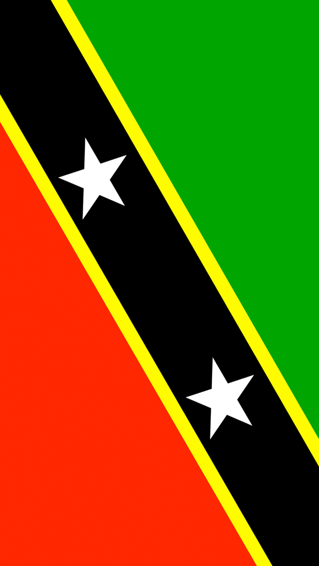Saint Kitts and Nevis Flag iPhone Wallpaper HD 640x1136