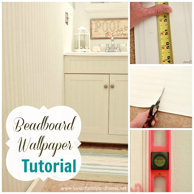 Beadboard Wallpaper Tutorial   Love of Family Home 640x640