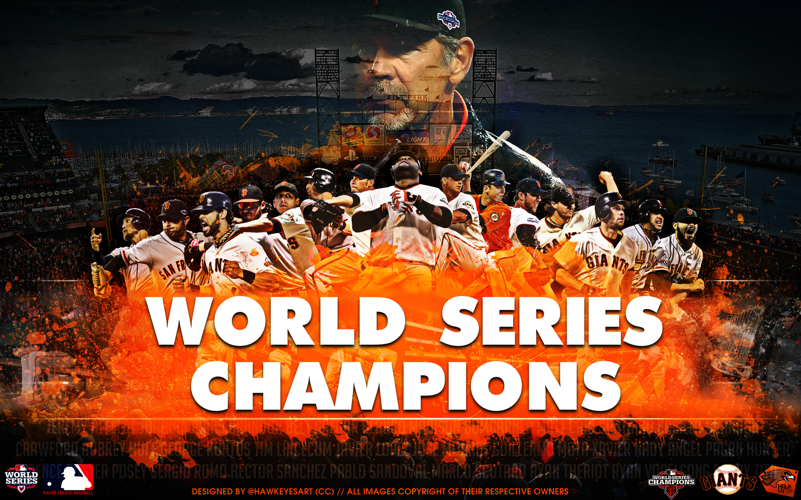 San Francisco Giants 2012 by TheHawkeyeStudio 1600x1000