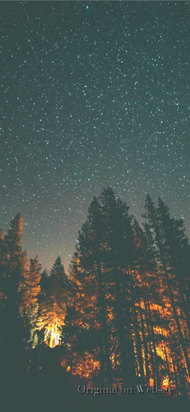 IPhone four Wallpaper 4K Nature  nightlight iPhone X Wallpaper
