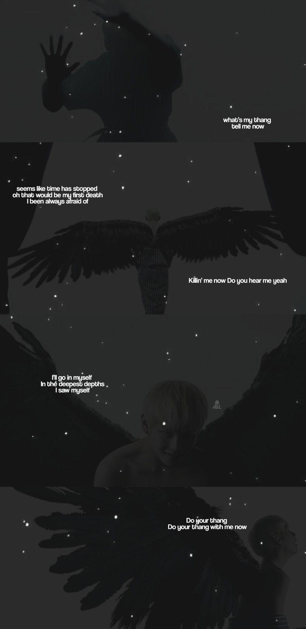 BTS MOTS7 black swan lyrics lockcreens Credits to twitter 997x2048