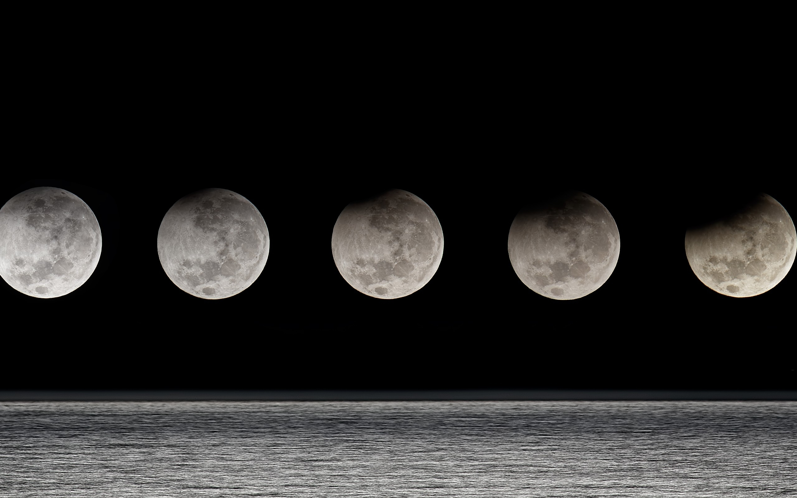 Moon eclipse moon phases HD Wallpapers 2560x1600