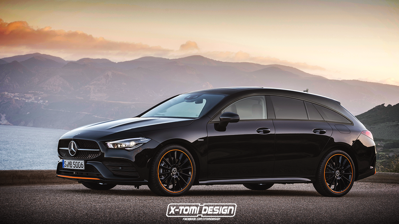 2020 Mercedes Benz CLA Shooting Brake Heading To Geneva 1366x768