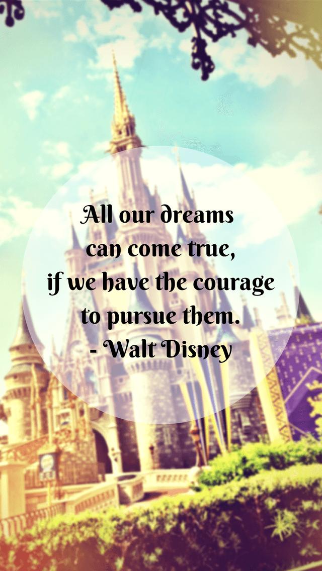 Walt Disney Quote iPhone5 Wallpaper 640x1136