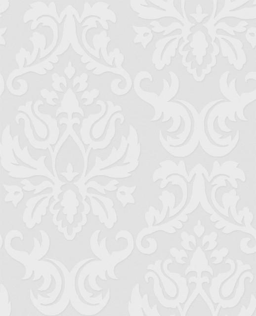 Paintable Large Damask Wallpaper   Modern   Wallpaper   by 2Modern 518x640